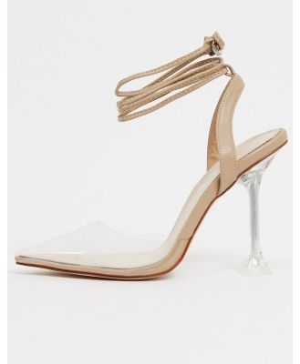 BEBO pointed heeled shoes in clear and beige