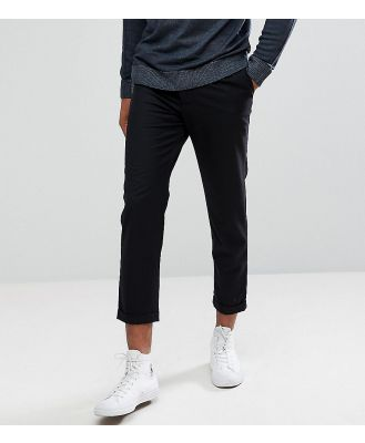 Bellfield TALL Cropped Pants With Pleated Front-Black