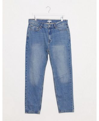Bellfield tapered ripped jeans in blue wash