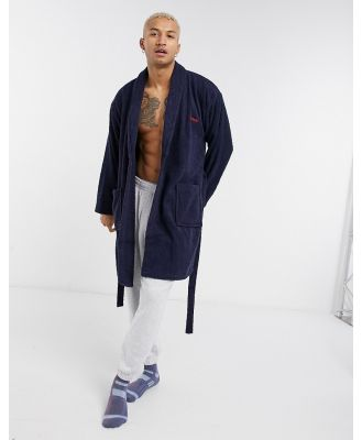 Bench dressing gown robe in navy