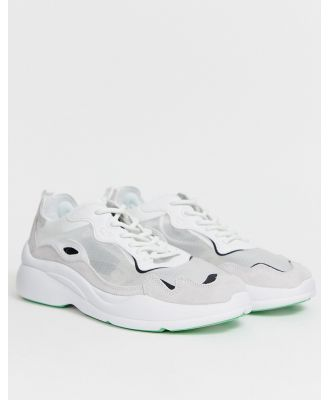 Bershka sneaker with transparent upper in white