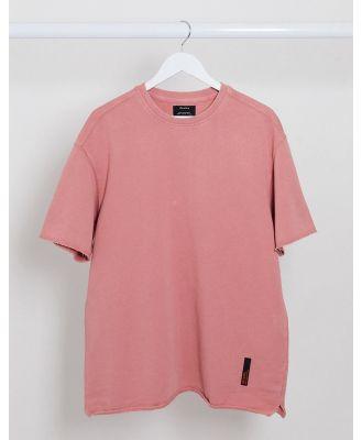 Bershka t-shirt in washed pink