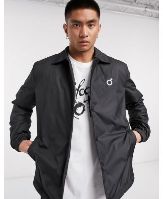 Blood Brother popper coach jacket in black