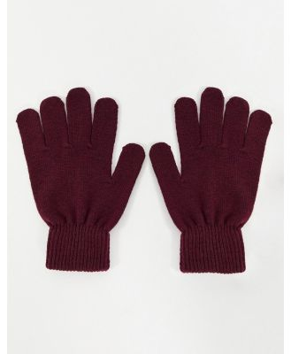 Boardmans recycled gloves-Red