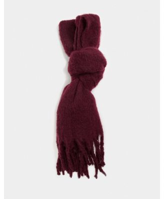 Boardmans recycled scarf-Red