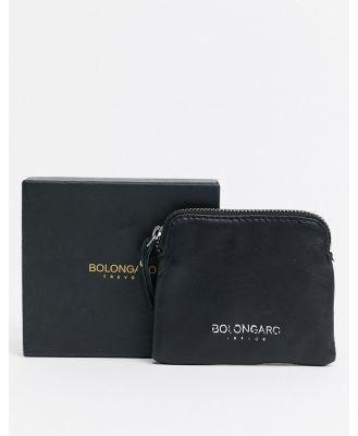 Bolongaro Trevor leather zipped coin wallet - Black