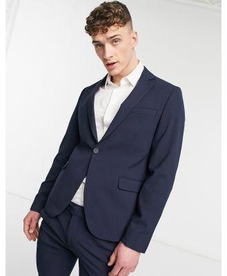 Bolongaro Trevor plain skinny suit jacket in navy