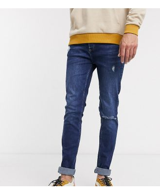 Bolongaro Trevor Tall distressed skinny jeans in blue
