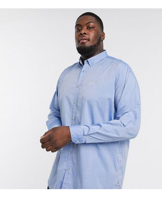 BOSS Athleisure Biado logo stretch oxford shirt in blue