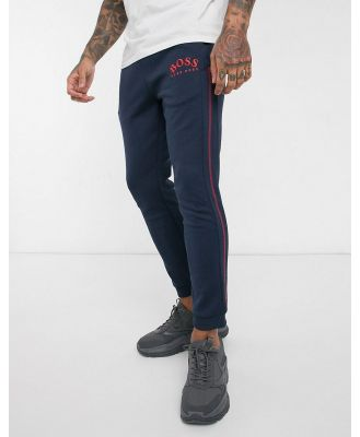 BOSS Athleisure Hadiko embroidered logo joggers in navy