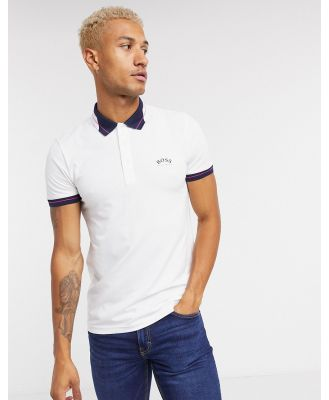 BOSS Athleisure Paule slim fit polo in white