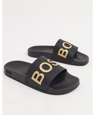 BOSS bay sliders-Black