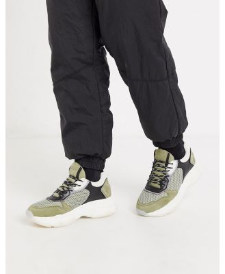 Bronx baisley chunky sole sneakers in khaki-Multi
