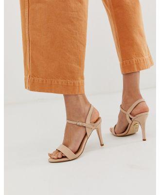 Buffalo heeled Sandal in cream-Brown