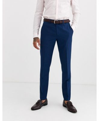 Burton Menswear slim suit pants in blue