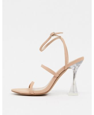 Call It Spring by ALDO Lunaa strappy heeled sandals with transparent heel in blush-Pink