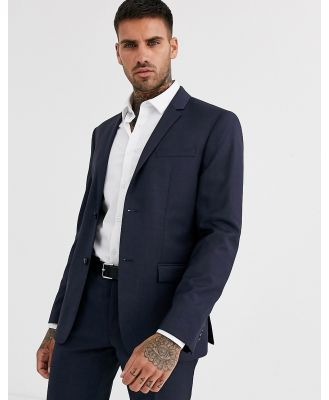 Calvin Klein textured navy suit jacket