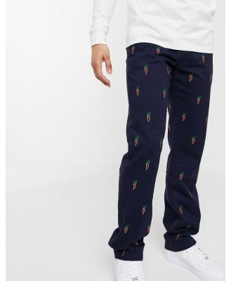 Carrots all-over print chino in navy