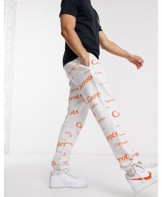 Carrots Wordmark all-over print sweatpants in white