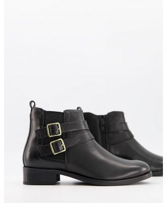Carvela Tempo leather ankle boots with buckles in black