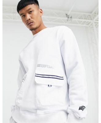 Caterpillar pocket reflective logo sweatshirt in white
