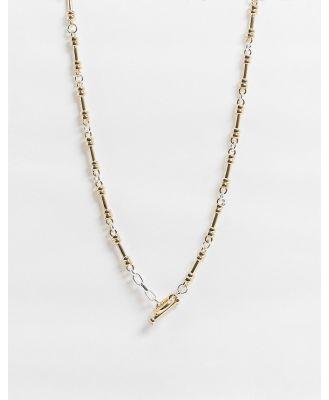 Chained & Able neckchain with bar clasp in mixed metal-Multi