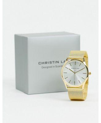 Christin Lars gold bracelet watch