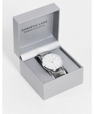 Christin Lars men's silver watch