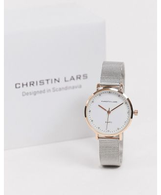 Christin Lars silver watch with gold dial-Grey