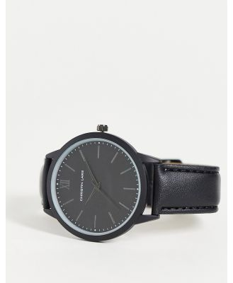 Christin Lars watch with black dial and strap