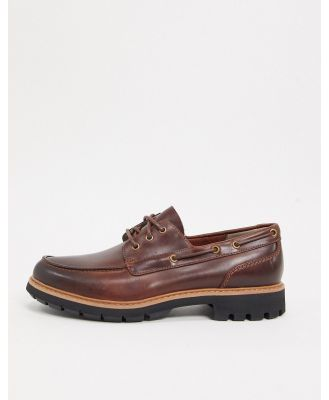 Clarks batcombe chunky boat shoes in tan-Brown