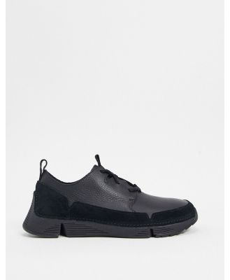 Clarks trigenic solar sneakers in black
