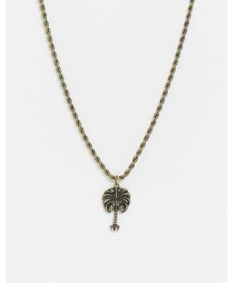 Classics 77 neckchain in gold with palm tree pendant