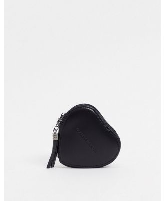 Claudia Canova heart shaped coin purse in black