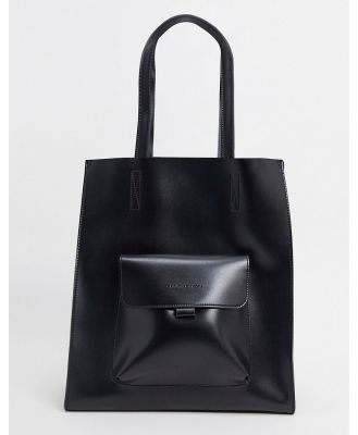 Claudia Canova large tote bag with front pocket in black