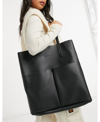 Claudia Canova unlined two pocket tote bag with removable pouch in black