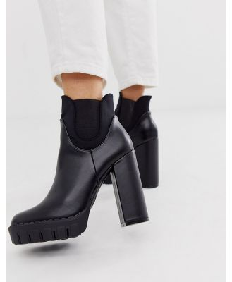 Co Wren chunky platform heeled boots in black