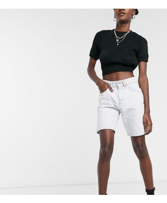 COLLUSION denim dad shorts in bleached white