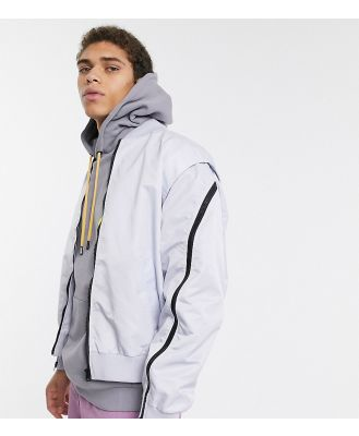 COLLUSION zip detail MA1 bomber jacket in grey-Black