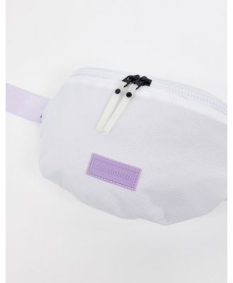Consigned bumbag with contrast webbing strap in leopard-White
