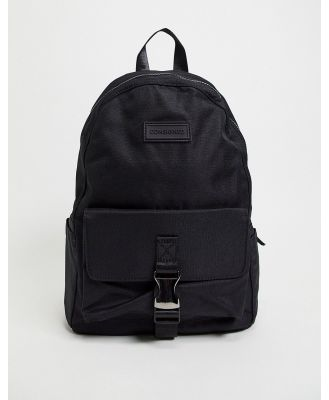 Consigned clip backpack in black