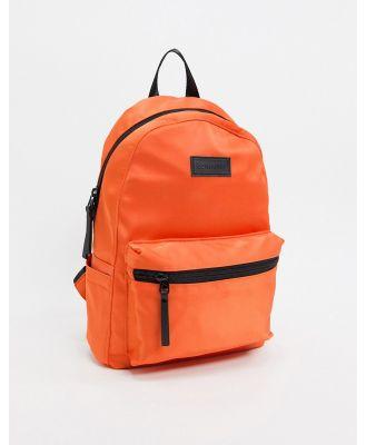 Consigned Zip Front Satin Back Pack-Orange