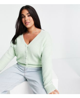 Cotton: On Curve cardigan in mint green