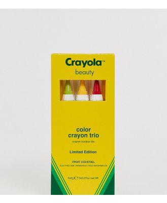 Crayola Colour Crayon Trio - Fruit Cocktail-Multi