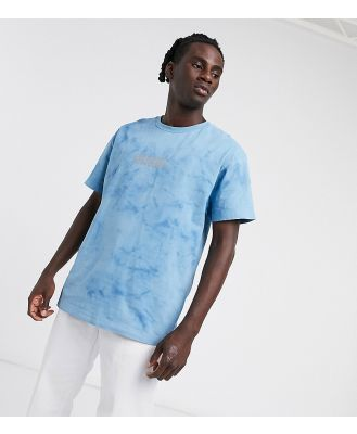 Crooked Tongues t shirt in blue wash with logo