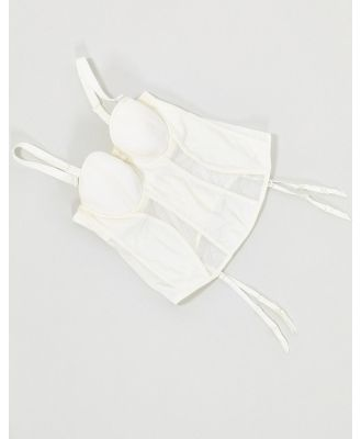 Curvy Kate Luxe strapless multiway basque in ivory-White