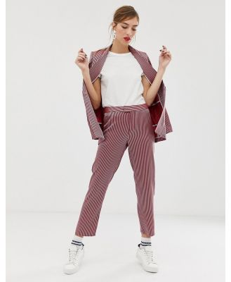 Custommade Adia Pants in stripe - Red