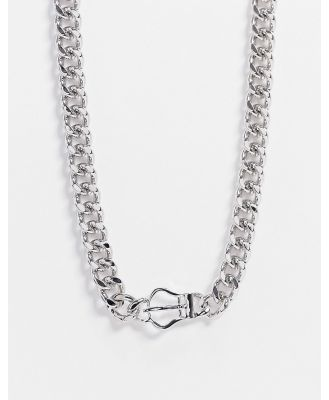 DesignB Exclusive neckchain in silver with buckle detail