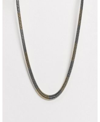 DesignB flat snake neckchain in mixed metal-Multi