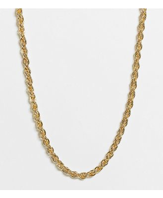 DesignB London Curve Exclusive chunky twisted necklace in gold